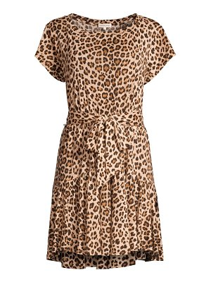 Rebecca Taylor leopard linen bow-front dress