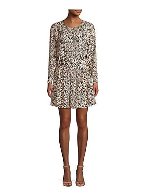 Rebecca Taylor leopard mini dress