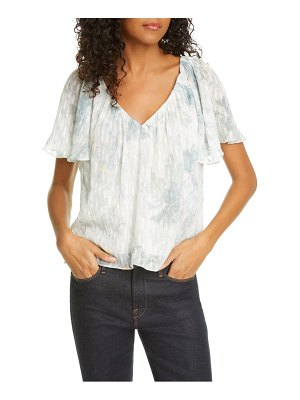 Rebecca Taylor lily short sleeve silk & cotton top