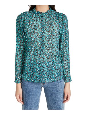 Rebecca Taylor long sleeve climbing roses blouse