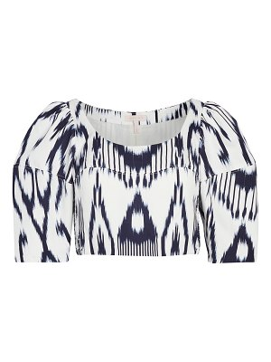 Rebecca Taylor long sleeve ikat linen top