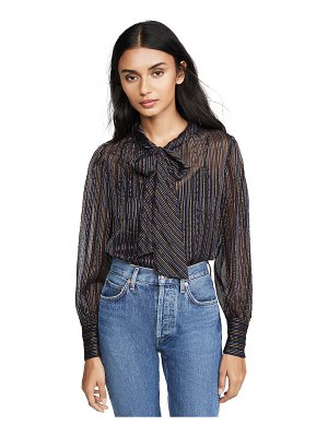 Rebecca Taylor long sleeve metallic stripe top
