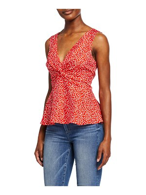 Rebecca Taylor Malia Sleeveless Ditsy Floral Top