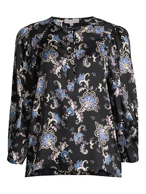 Rebecca Taylor paisley silk-blend long-sleeve blouse