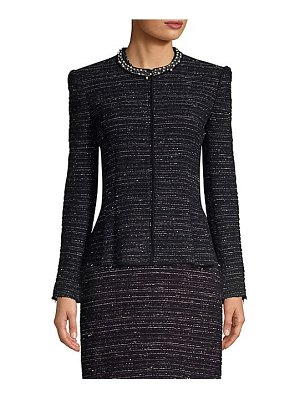 Rebecca Taylor pearl embellished tweed jacket