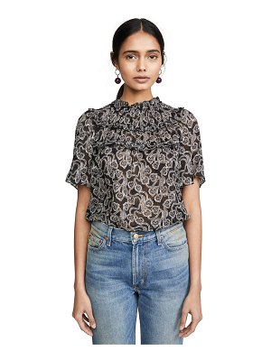 Rebecca Taylor short sleeve celia lace top