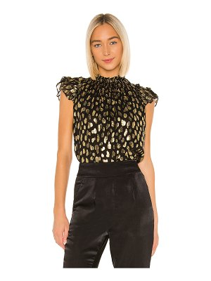 Rebecca Taylor sleeveless leopard metallic top