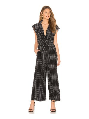 Rebecca Taylor Sleeveless Plaid Silk Jumpsuit
