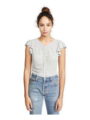 Rebecca Taylor sleeveless ruched jersey tee