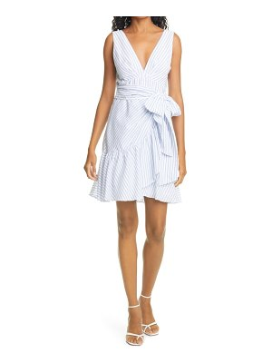 Rebecca Taylor stripe tie ruffle dress