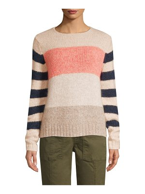Rebecca Taylor Striped Mohair-Blend Sweater