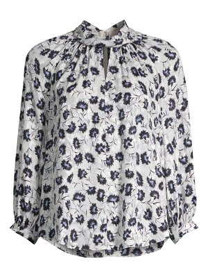 Rebecca Taylor thistle fleur long-sleeve blouse