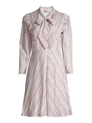 Rebecca Taylor tie-neck stripe dress