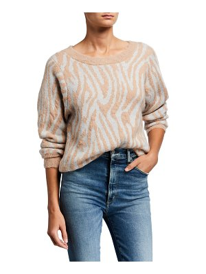 Rebecca Taylor Tiger Stripe Wool Pullover Sweater