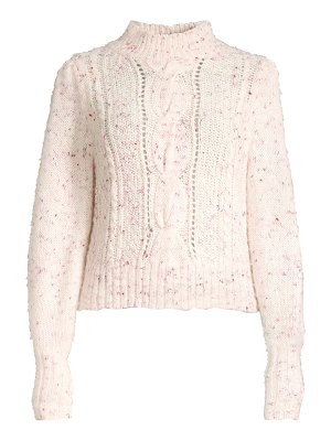 Rebecca Taylor tweed cableknit sweater