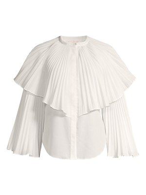 Rebecca Taylor voile pleated blouse
