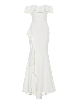 Rebecca Vallance Aegean off-the-shoulder gown