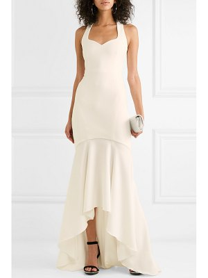 Rebecca Vallance claudette bow-detailed stretch-crepe gown