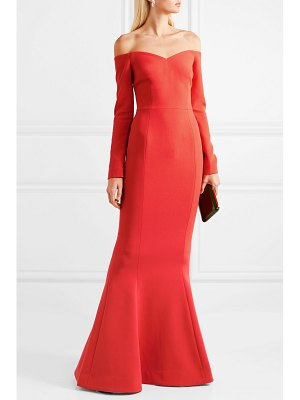 Rebecca Vallance l'amour off-the-shoulder crepe gown