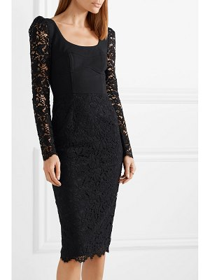Rebecca Vallance le saint lace and crepe midi dress