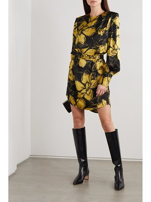 Rebecca Vallance roswell belted floral-print satin mini dress