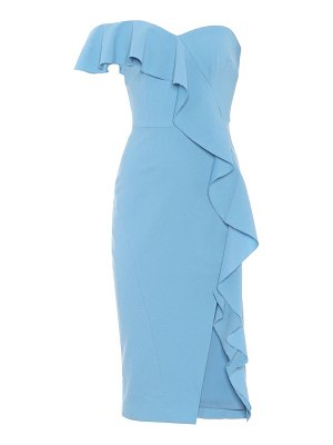 Rebecca Vallance Ruffled crêpe midi dress