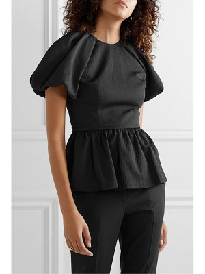 Rebecca Vallance winslow open-back cloqué peplum top
