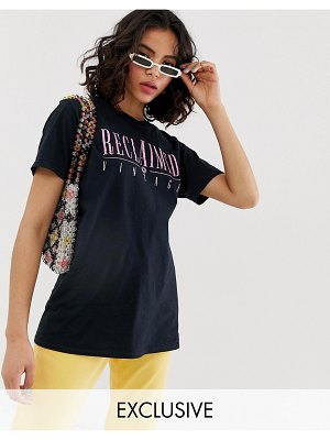 Reclaimed Vintage inspired t-shirt with logo animal print