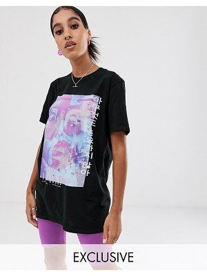Reclaimed Vintage inspired t-shirt with spiral rave print