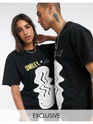Reclaimed Vintage x smiley unisex oversized t-shirt in black