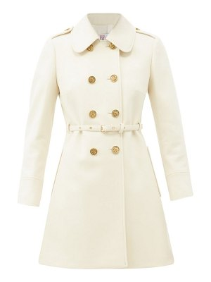 Red Valentino belted double-breasted wool-blend coat