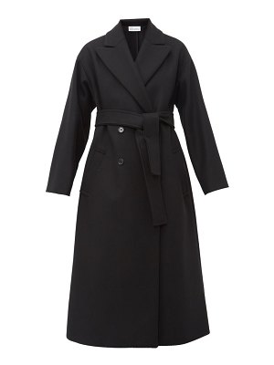 Red Valentino belted double breasted wool blend coat