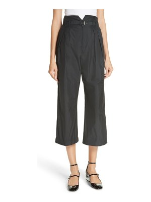 Red Valentino belted pleat front pants