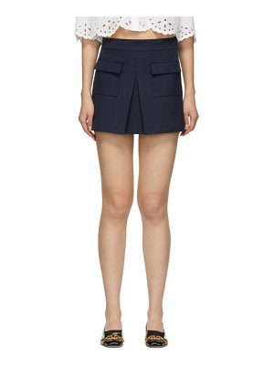 Red Valentino blue front skirt shorts