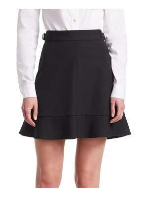 Red Valentino cady tech high-rise a-line skirt