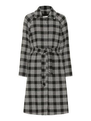 Red Valentino checked cotton-blend coat
