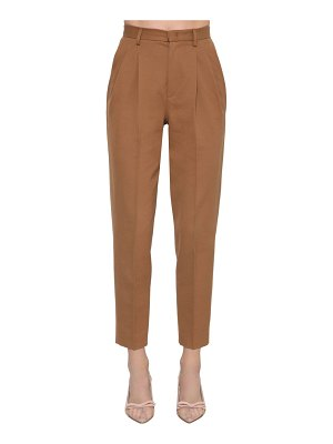 Red Valentino Cotton & wool gabardine straight pants