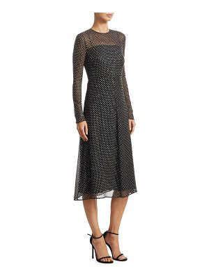 Red Valentino creppon silk dress