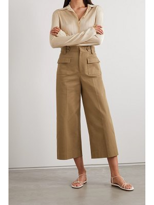 Red Valentino cropped cotton-blend twill wide-leg pants