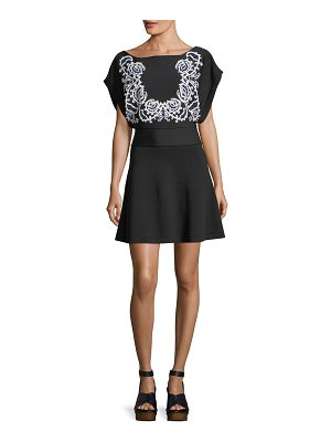 Red Valentino Embroidered A-Line Dress