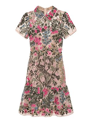 Red Valentino embroidered broderie anglaise minidress