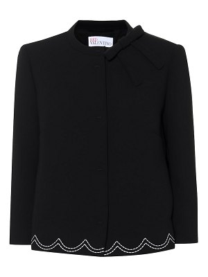 Red Valentino Embroidered crêpe jacket