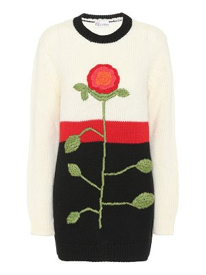 Red Valentino embroidered wool sweater