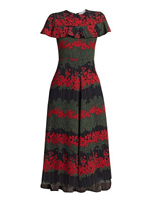 Red Valentino floral a-line midi dress