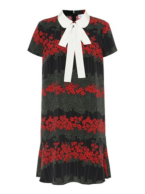 Red Valentino floral crêpe minidress