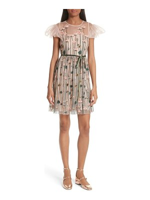 Red Valentino floral embroidered dress