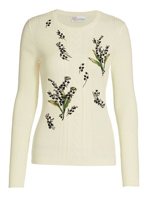 Red Valentino floral knit sweater