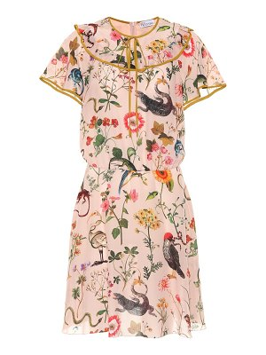 Red Valentino Floral-printed silk minidress