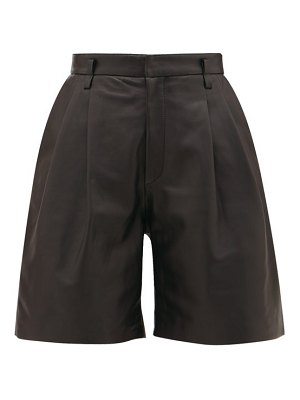 Red Valentino high-rise leather shorts