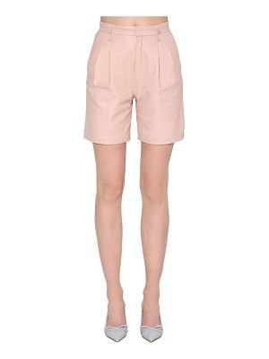 Red Valentino High rise leather shorts